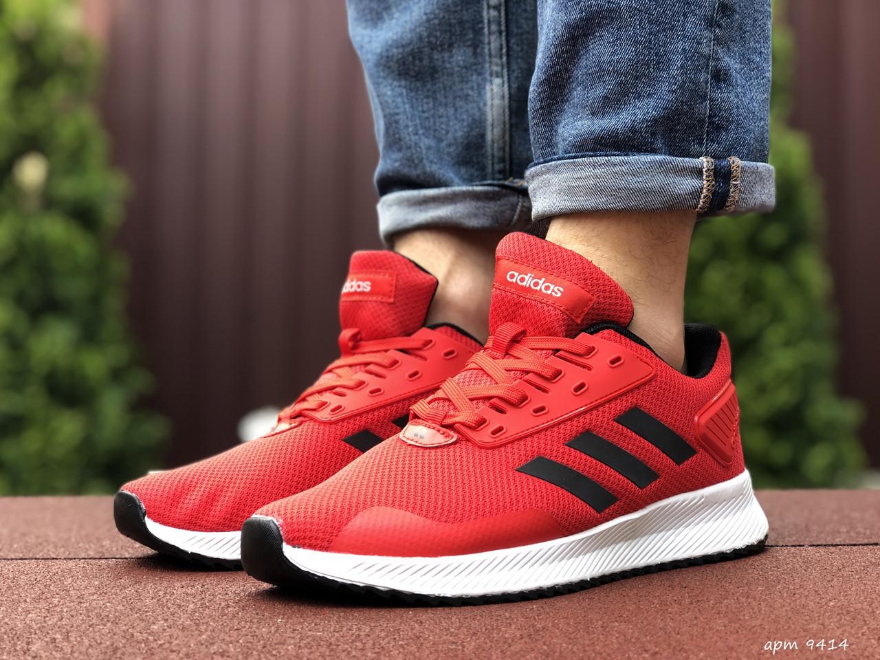 Чоловічі кроссовки Adidas червоний / білий. [Розміри в наявності: 41,42,43,44,45]