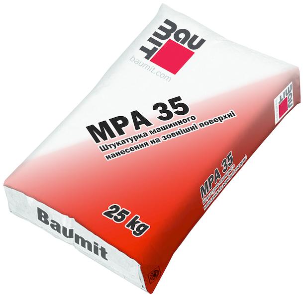 Машинная штукатурка Baumit MPI 35