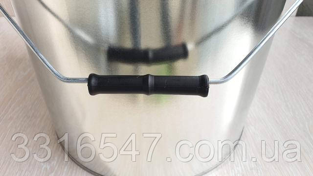 Евроведро Ведро металлическое с крышкой под обруч 20л