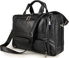 Многофункциональная сумка-портфель мужская кожаная на три отделения Jasper&Maine 7289A