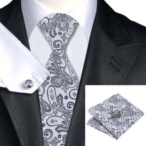 """Комплект шелковый галстук, запонки, платок 0759 - Интернет магазин """"На пафосе"""" в Виннице"""
