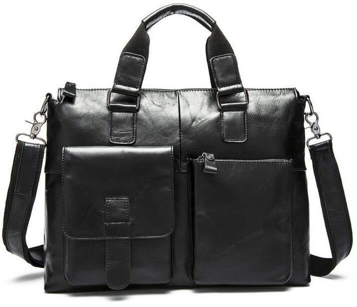 Сумка-портфель мужская деловая для ноутбука и документов Tiding Bag 7264A