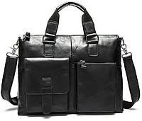Сумка-портфель мужская деловая для ноутбука и документов Tiding Bag 7264A, фото 1