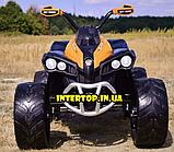Детский электромобиль квадроцикл с 2 моторами и пультом управления BAMBI M 4200EBLR- 7 оранжевый, фото 7