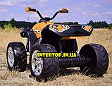 Детский электромобиль квадроцикл с 2 моторами и пультом управления BAMBI M 4200EBLR- 7 оранжевый, фото 8