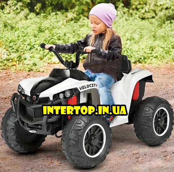 Детский квадроцикл на аккумуляторе с пультом РУ M 4229EBR-1 белый