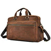 Мужская дорожная сумка из натуральной кожи с отделом для ноутбука Tiding Bag t0018, фото 1