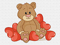 """Детская картина по номерам. Brushme """"Любимый мишка"""" MEX6424"""