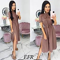 Платье женское длинное розовый, кофе, марсала, чёрный SM, LXL