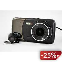 Видеорегистратор DVR T652 Full HD 1080p с камерой заднего вида Черный (FL-66)
