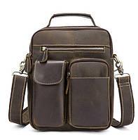 Мужская сумка-барсетка кожаная с ручкой и съемным ремнем Tiding Bag t1171, фото 1