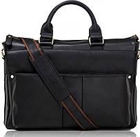 Елегантна велика чоловіча шкіряна сумка 17 діагональ Tiding Bag t1096A