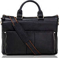 Элегантная большая мужская кожаная сумка 17 диагональ Tiding Bag t1096A