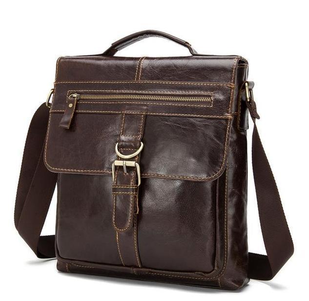 Большая мужская сумка через плечо из натуральной кожи Bexhill Bx1292C