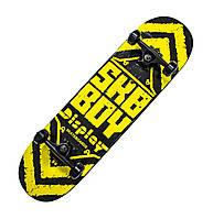 """Дерев'яний скейтборд """"SKY BOY"""", жовтий, 79*20 см, фото 1"""