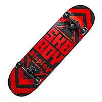 """Дерев'яний скейтборд """"SKY BOY"""", червоний, 79*20 см, фото 1"""