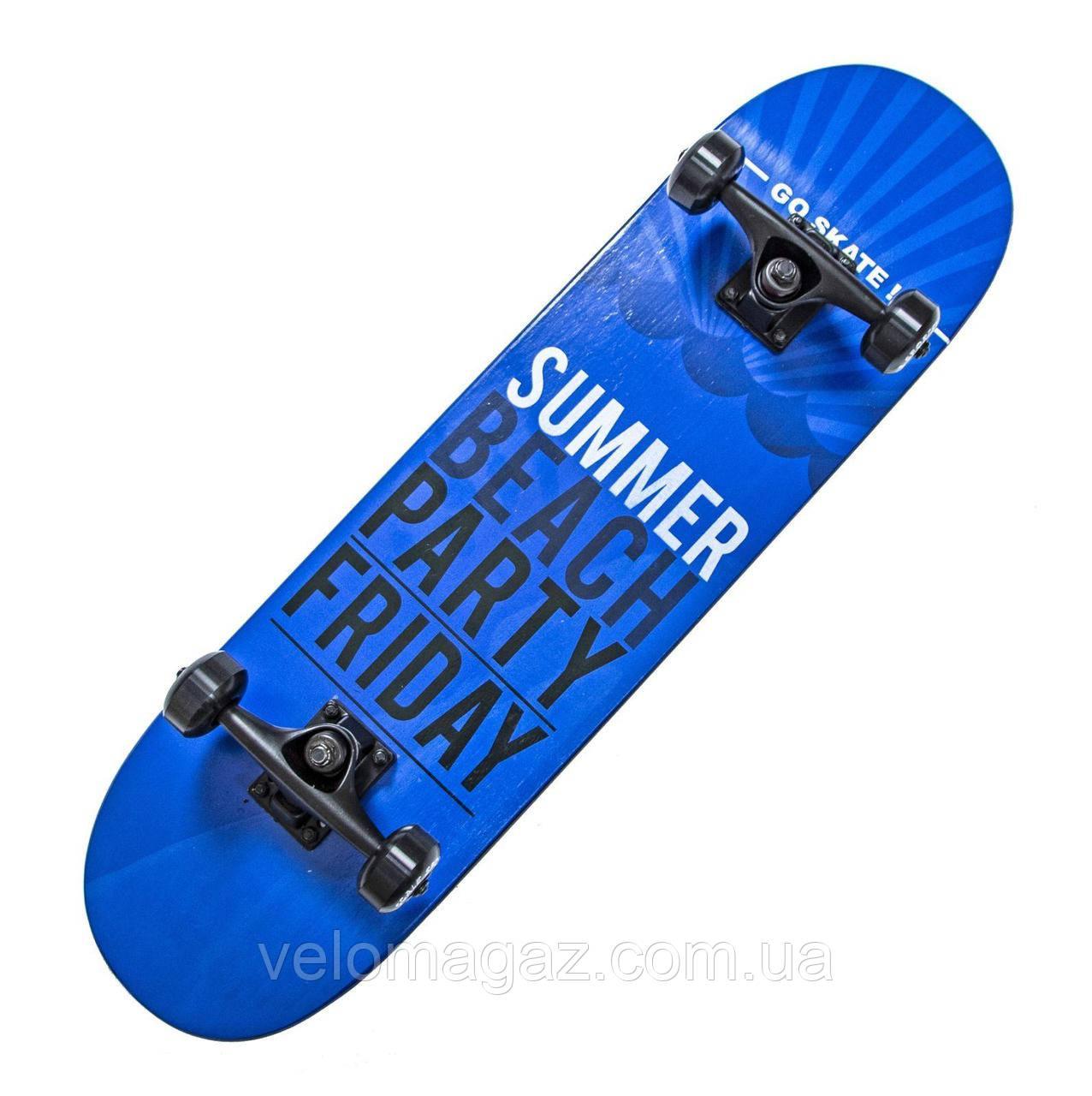 """Дерев'яний скейтборд """"Scale SUMMER Sports"""", чорний, 79*20 см"""