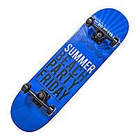 """Дерев'яний скейтборд """"Scale SUMMER Sports"""", чорний, 79*20 см, фото 1"""