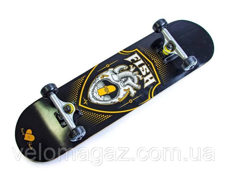 Деревянный скейтборд SKATEBOARD HEART, 79*20 см, клён