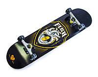 Деревянный скейтборд SKATEBOARD HEART, 79*20 см, клён, фото 1
