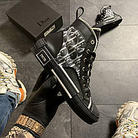 🔥 ВИДЕО ОБЗОР🔥 Dior B23 High-Top Sneakers Black Диор Кристиан Б23 Черный 🔥 Диор женские кроссовки 🔥