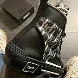 🔥 ВИДЕО ОБЗОР🔥 Dior B23 High-Top Sneakers Black Диор Кристиан Б23 Черный 🔥 Диор женские кроссовки 🔥, фото 5