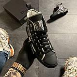 🔥 ВИДЕО ОБЗОР🔥 Dior B23 High-Top Sneakers Black Диор Кристиан Б23 Черный 🔥 Диор женские кроссовки 🔥, фото 7