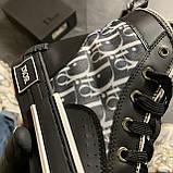 🔥 ВИДЕО ОБЗОР🔥 Dior B23 High-Top Sneakers Black Диор Кристиан Б23 Черный 🔥 Диор женские кроссовки 🔥, фото 6