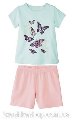Хлопковая пижама для девочки на 1 - 2 года, размер 86 - 92, Lupilu