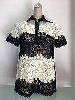 Блуза женская кружевная в стиле VDP с воротничком