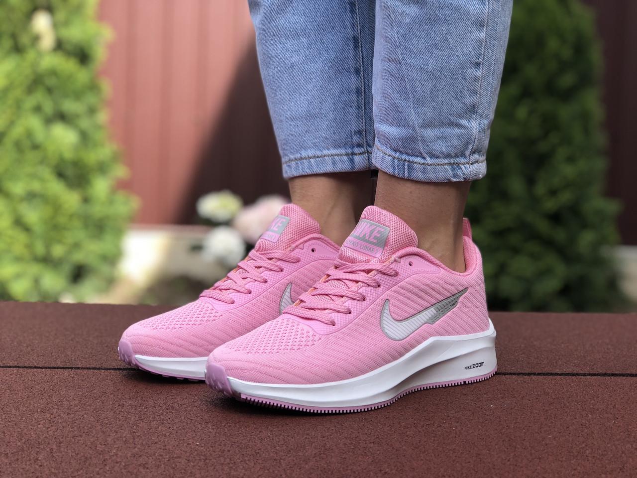 Жіночі кроссовки Nike Flyknit Lunar 3 рожевий / білий. [Розміри в наявності: 36,37,40,41]