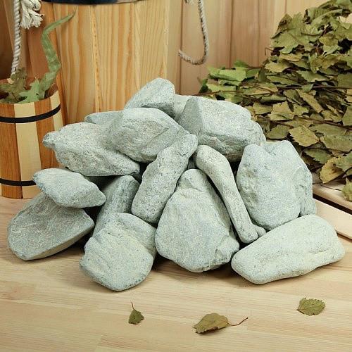 Камінь для лазні та сауни порфірит шліфований (8-15 см) мішок 20 кг для електрокам'янки