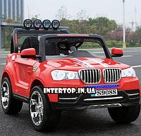 Детский электромобиль Джип BMW 4WD полный привод 4 двигателя 8088 красный