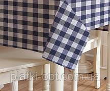 Скатерть клетка Пепита крупная синяя 1.5м х 1.2м (кухонный стол)