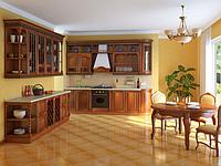 Кухня из масива дерева в классическом стиле