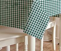 Скатерть клетка Пепита мелкая зеленая 1.5м х 1.2м (кухонный стол), фото 1