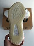 Женские кроссовки Adidas Yeezy 350 белые 36-44 рр.  Живое фото (Реплика ААА+), фото 2
