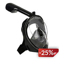 Панорамная маска для плавания Free Breath M2068G L/XL Black (FL-182)