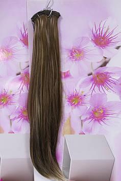 Штучні волосся термоволокно на заколках прямі золотисто русявий