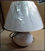 Лампа настольная SM голубая с абажуром.