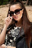 Солнцезащитные квадратные черные женские очки (1381.4131 svt)