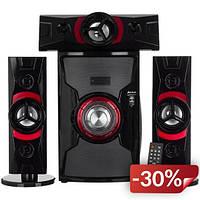 Акустическая система Kronos USBFM-DC3307-DT Multimedia Bluetooth Speaker Караоке Черный (200430)