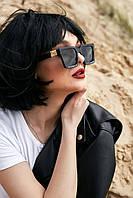 Квадратные черные женские солнцезащитные очки (1371.4132 svt)