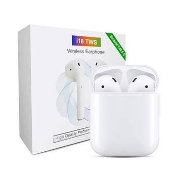 Беспроводные Bluetooth наушники HBQ i18 TWS 6D Stereo NEW Version 2020 белые