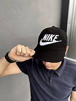 Кепка Nike мужская | женская найк черная big white logo