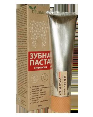 Зубна паста з ароматом апельсину 80мл ТМ DeLaMark