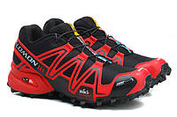 Кроссовки женские Salomon Speedcross 3 red-black