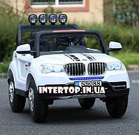 Детский электромобиль Джип BMW 4WD полный привод 4 двигателя M 3118 белый