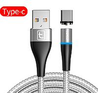 Магнитный кабель Twitch USB - Type-C для зарядки Серебристый 1 Метр, фото 1