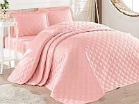 Покрывало стеганое на двуспальную кровать 240х260 с наволочками 50х70 (TM Aran Clasy) Rabel V4, Турция